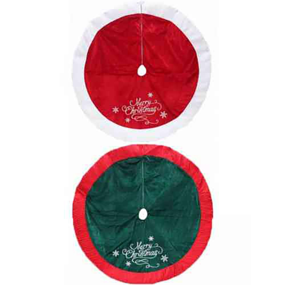 48 in. Velvet/Satin Tree Skirt Assorted - 2 Styles