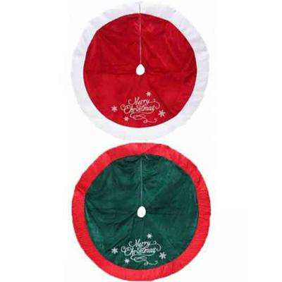 Holiday Traditions 48 in. Velvet/Satin Tree Skirt Assorted - 2 Styles