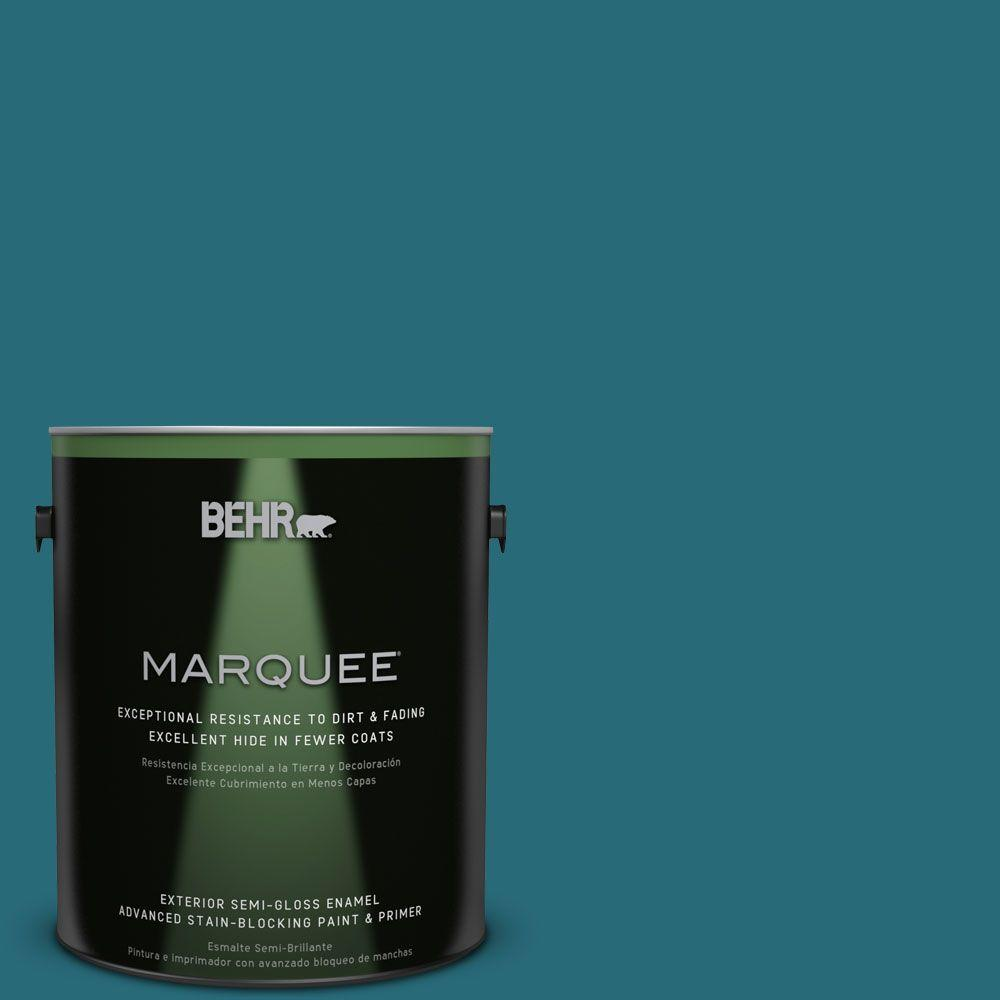 1-gal. #M470-7 Blue Stream Semi-Gloss Enamel Exterior Paint
