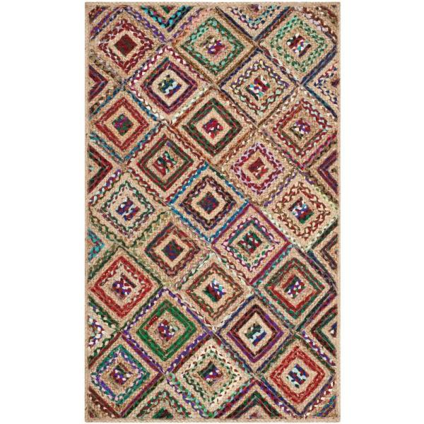 Cape Cod Natural/Red 4 ft. x 6 ft. Area Rug