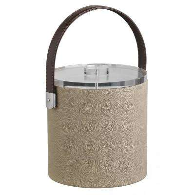 Cosmopolitan 3 Qt. Latte Ice Bucket with Strap Handle and Thick Lucite Lid