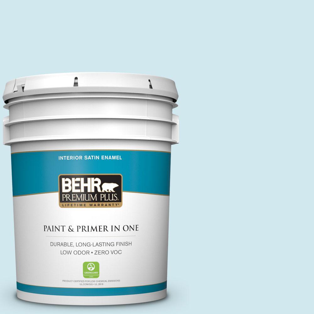 5-gal. #540C-1 Mineral Water Zero VOC Satin Enamel Interior Paint