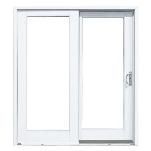 72 in. x 80 in. Smooth White Right-Hand Composite PG50 Sliding Patio Door