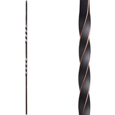 Twist and Basket 44 in. x 0.5 in. Oil Rubbed Copper Double Twist Solid Wrought Iron Baluster