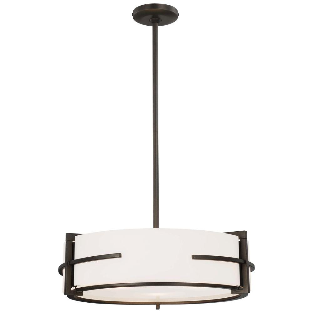 Minka Lavery 3-Light Smoked Iron Pendant-DISCONTINUED