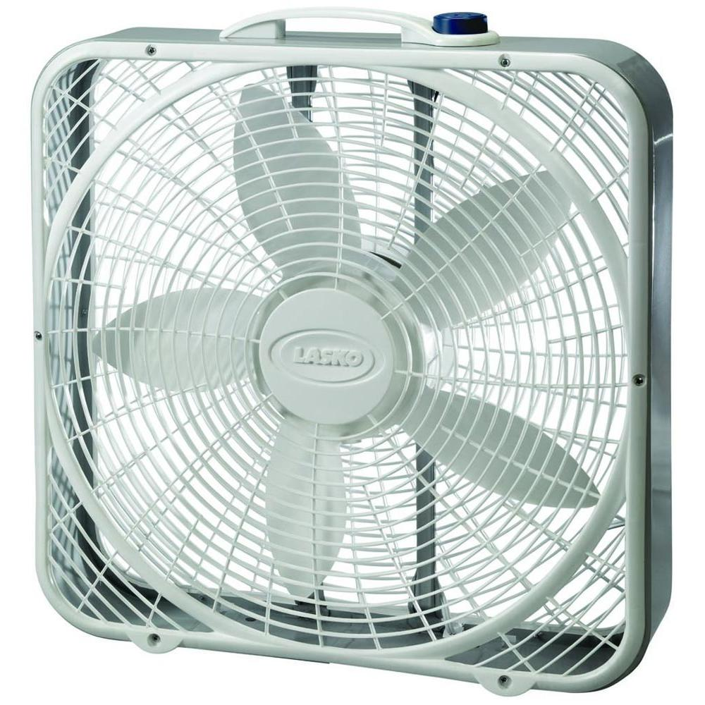 lasko premium 20 in 3 speed box fan 3723 the home depot. Black Bedroom Furniture Sets. Home Design Ideas