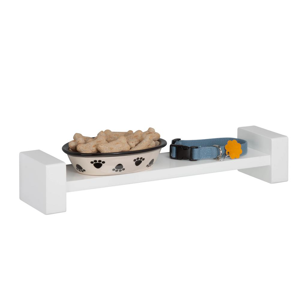 HoneyCanDo White H Shaped Wall Shelf SHF-04397