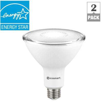 Outdoor Led Flood Lights Bulbs Ecosmart indooroutdoor led bulbs light bulbs the home depot 90 watt equivalent par38 dimmable led flood light bulb bright white 2 workwithnaturefo