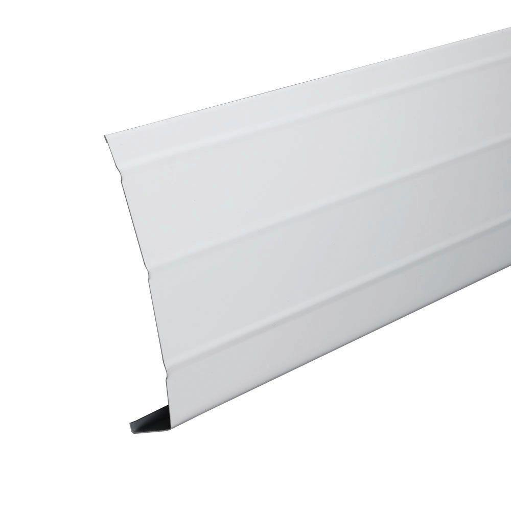 6 In X 12 Ft White Aluminum Fascia Trim 77103 The Home