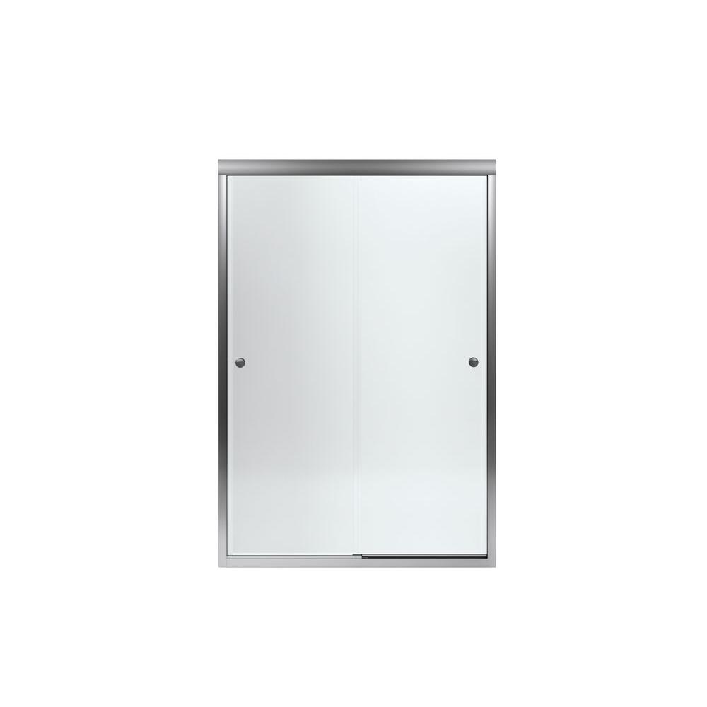 STERLING Finesse 47-5/8 in. x 70-1/16 in. Semi-Framed Sliding Shower Door in Silver with Handle-5477-48S-G05 - The Home Depot  sc 1 st  The Home Depot & STERLING Finesse 47-5/8 in. x 70-1/16 in. Semi-Framed Sliding ... pezcame.com