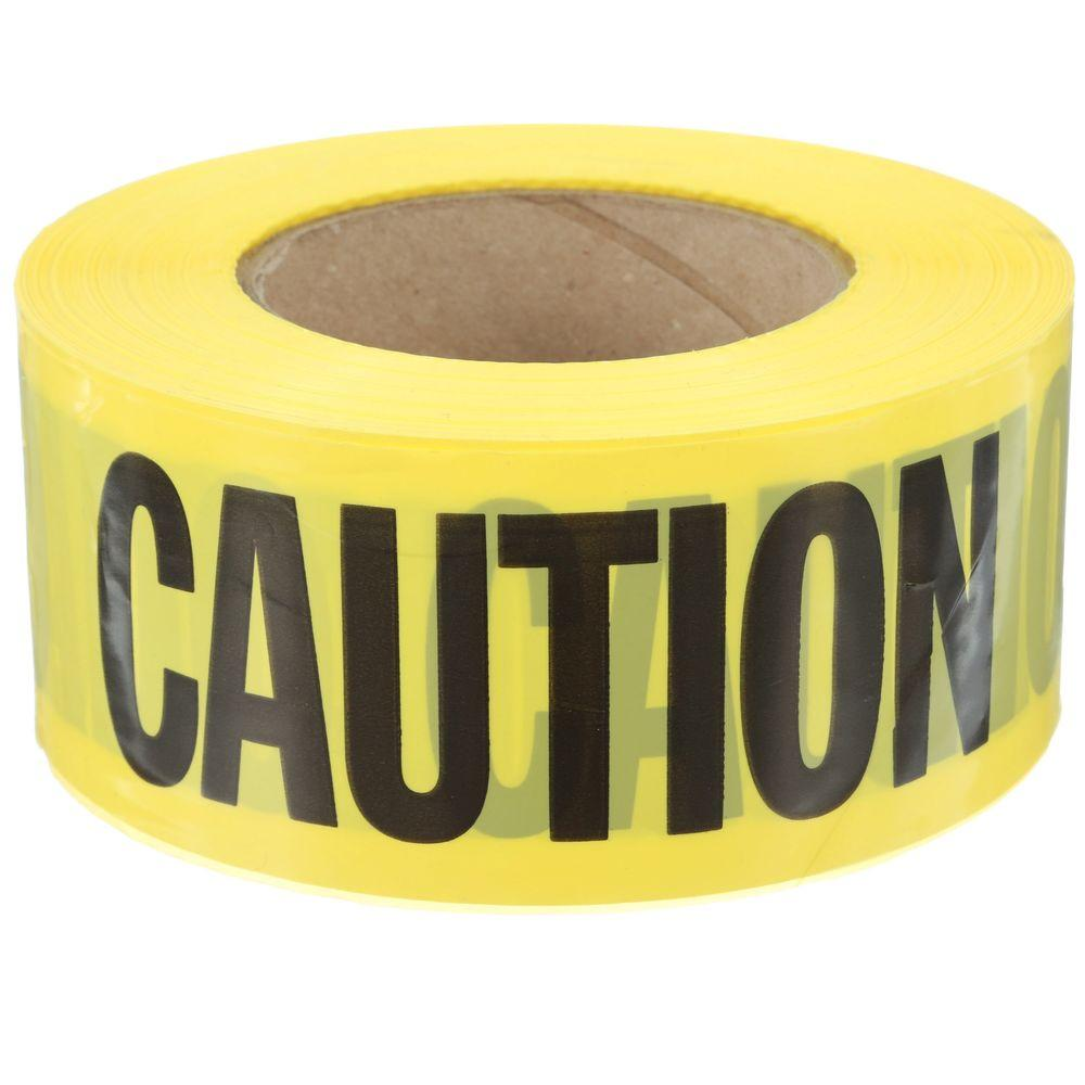 c21b2bdd982 Empire 3 in. x 1000 ft. Caution Tape in Yellow-71-1012HD - The Home ...