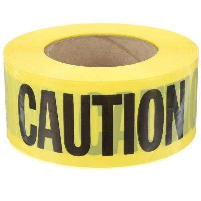 3 in. x 1000 ft. Caution Tape in Yellow