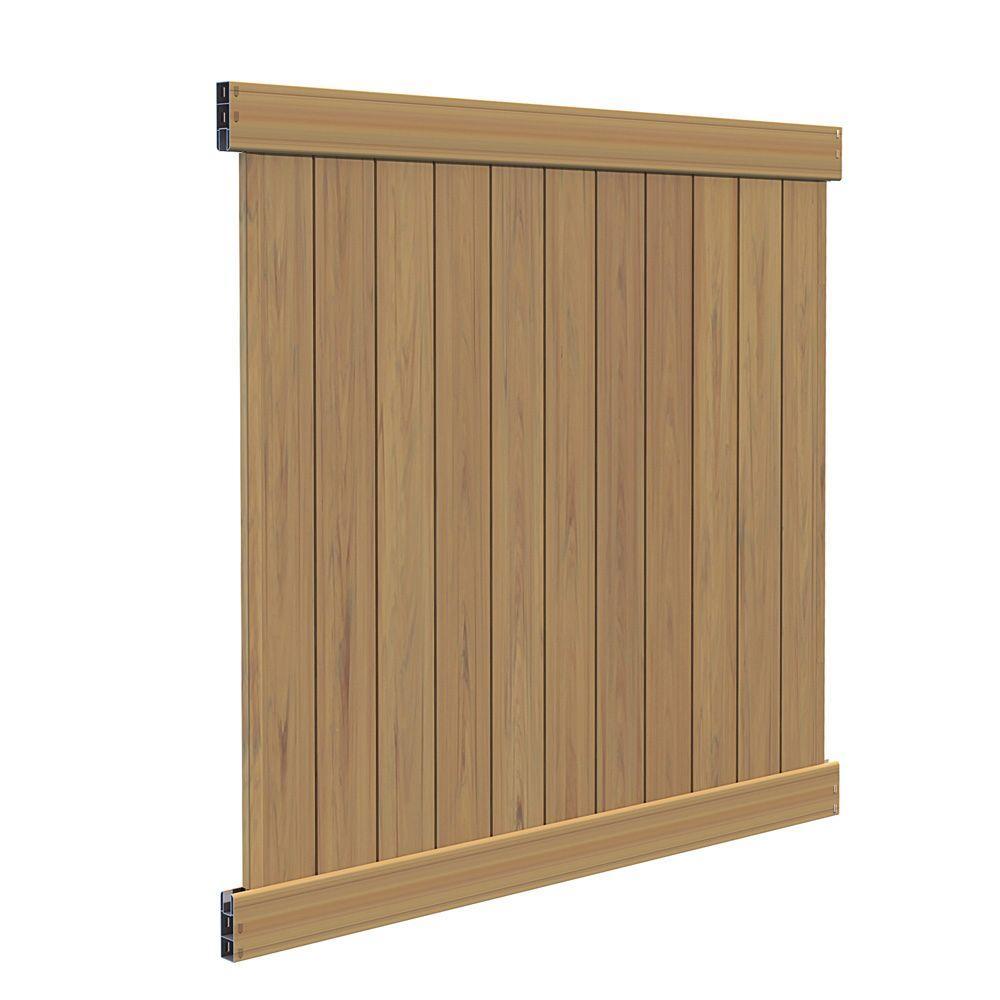 veranda washington 6 ft h 6 ft w cypress vinyl fence panel kit z 73014399 the home depot