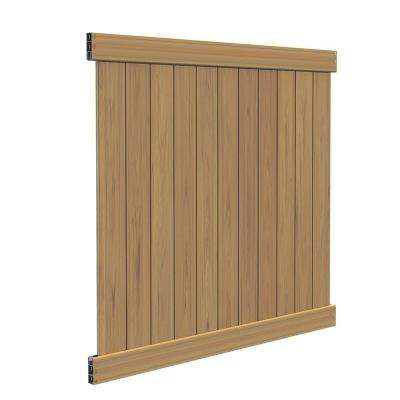 Washington 6 ft. H x 6 ft. W Cypress Vinyl Fence Panel Kit (Z)