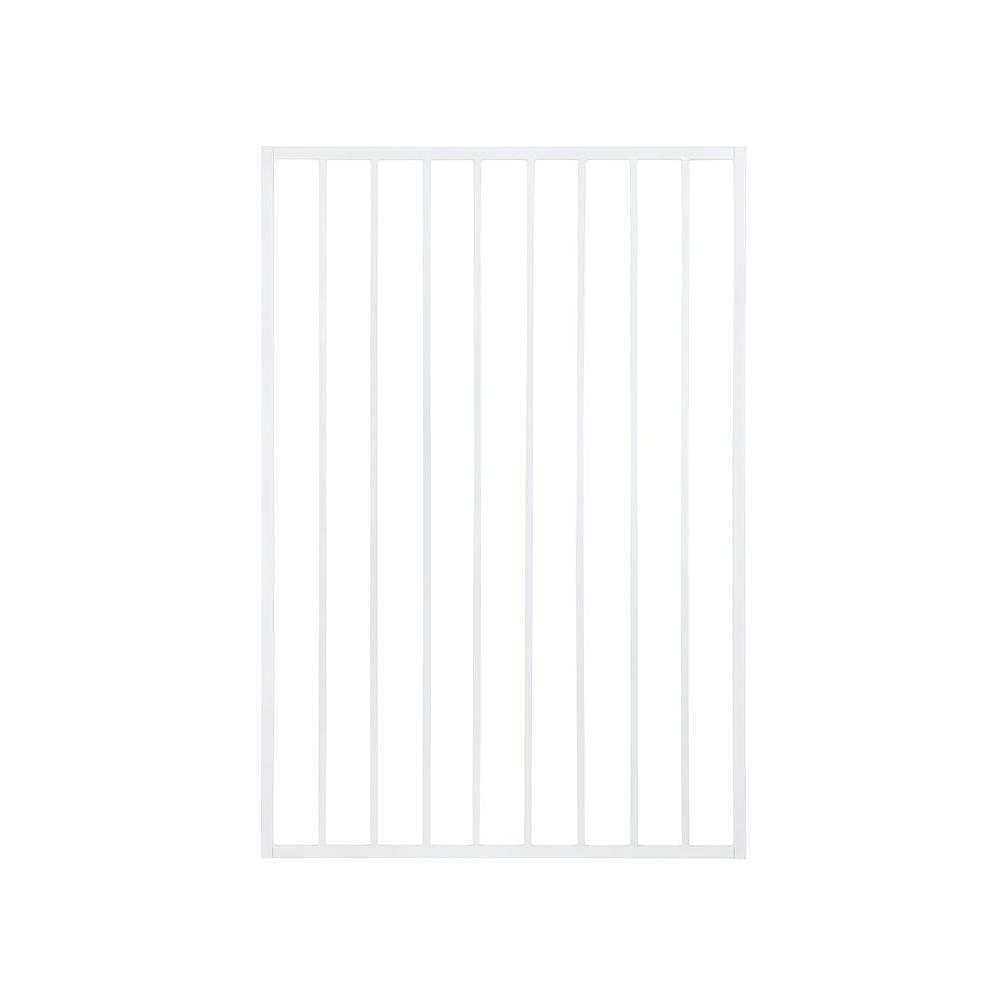 Pro Series 3 ft. x 5 ft. White Steel Fence Gate