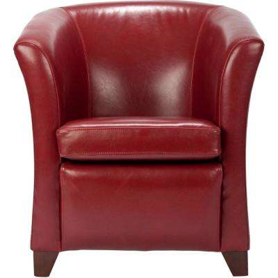 Greta Mulberry Bicast Leather Club Arm Chair
