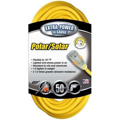 50 ft. Yellow 14/3 SJEOW Extension Cord