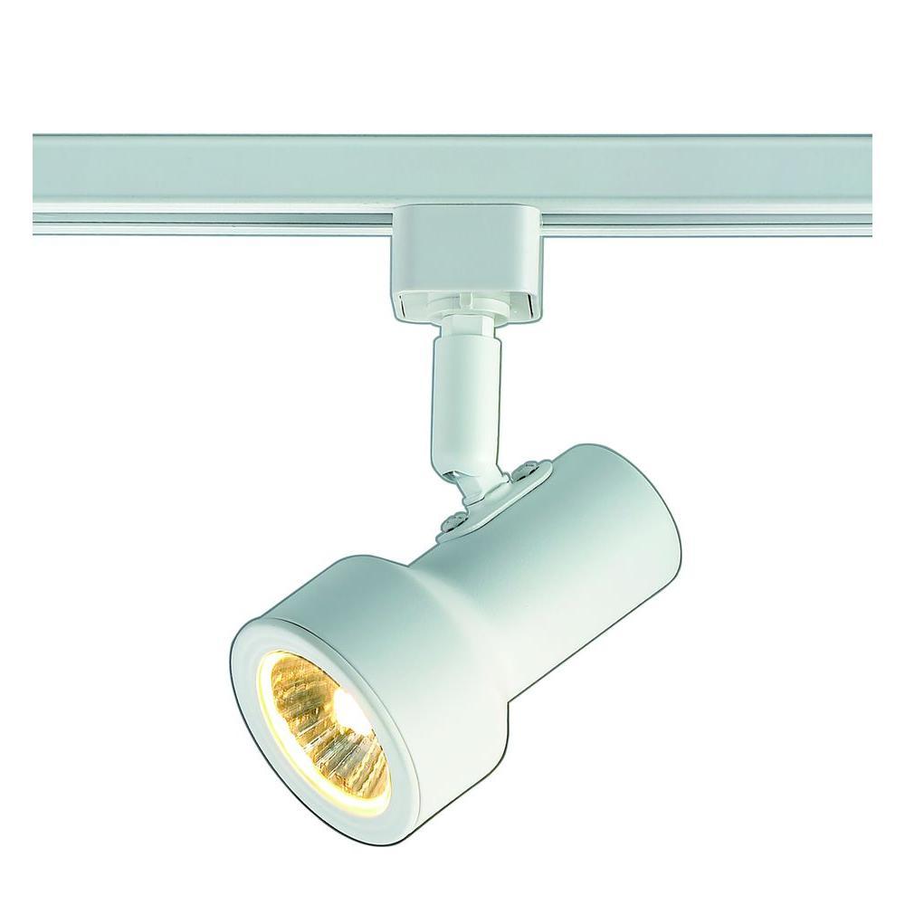 1-Light White Mini Step Linear Track Lighting Head