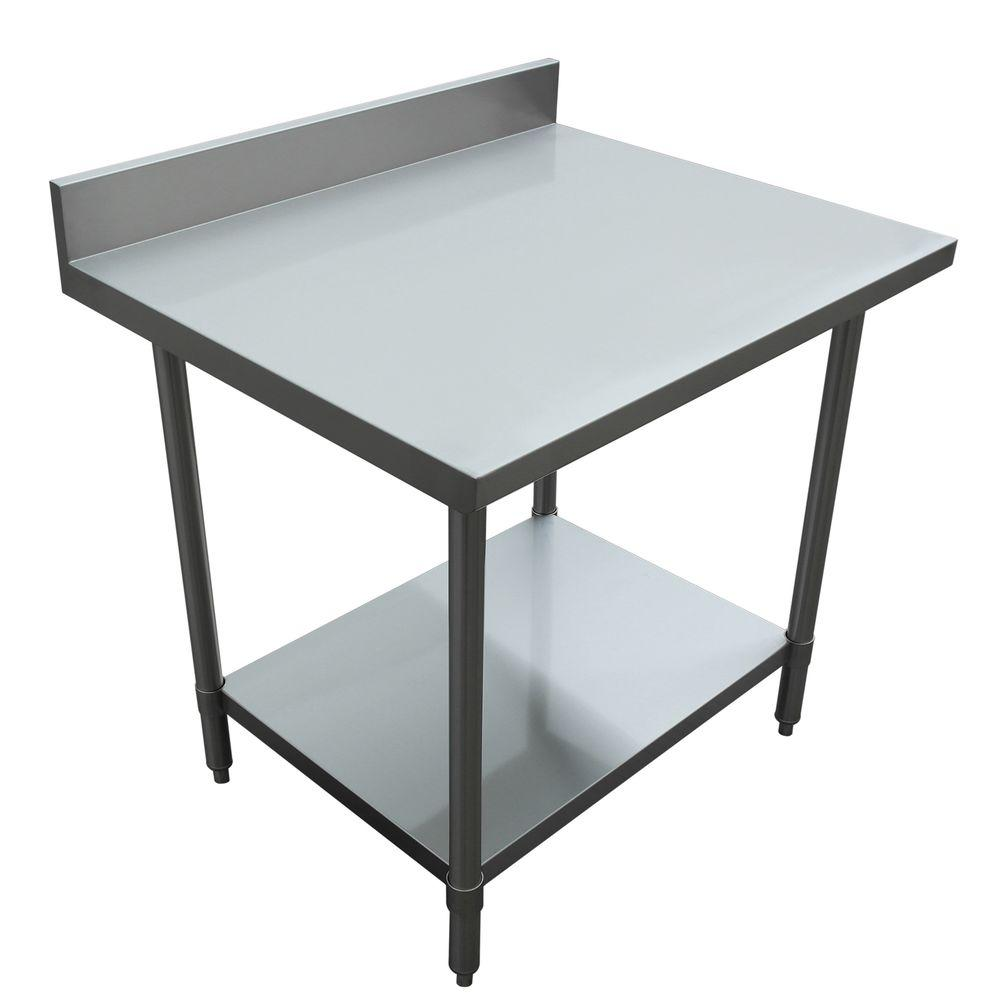 Sportsman stainless steel kitchen utility table sswtable the home depot - Steel kitchen tables ...