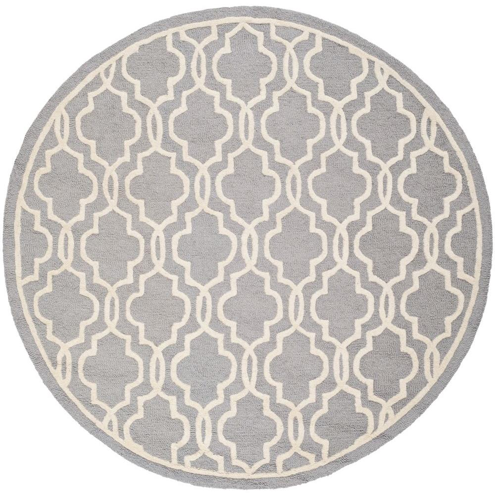 Cambridge Silver/Ivory 6 ft. x 6 ft. Round Area Rug