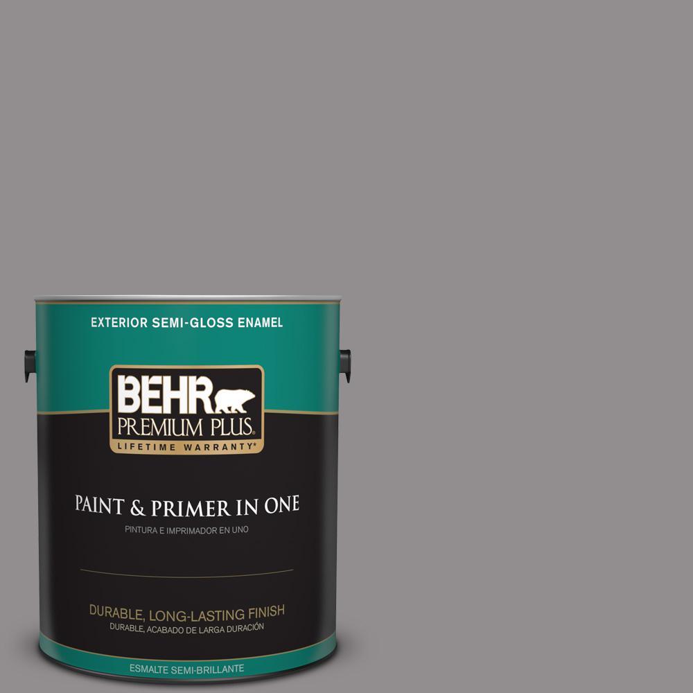 1 gal. #PPU16-14 Plum Smoke Semi-Gloss Enamel Exterior Paint