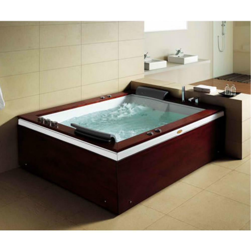 MESA 68.4 in. Acrylic Flatbottom Whirlpool Bathtub in White-BT-0502 ...