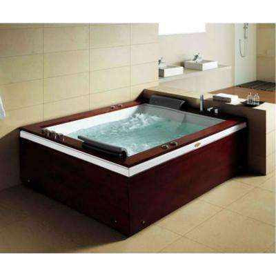68.4 in. Acrylic Flatbottom Whirlpool Bathtub in White