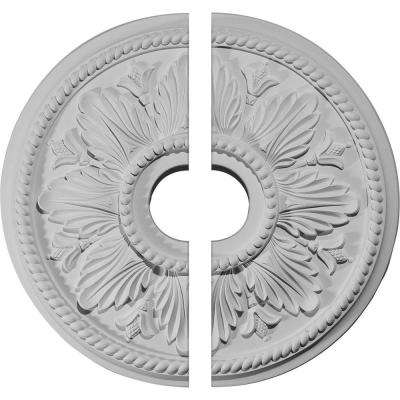 18-1/8 in. O.D. x 3-1/2 in. I.D. x 2-3/4 in. P Edinburgh Ceiling Medallion (2-Piece)