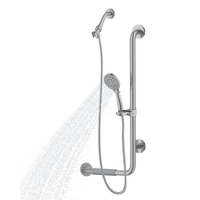 ErgoSlideBar Right 5-Spray Wall Bar Shower Kit In Brushed Stainless Steel