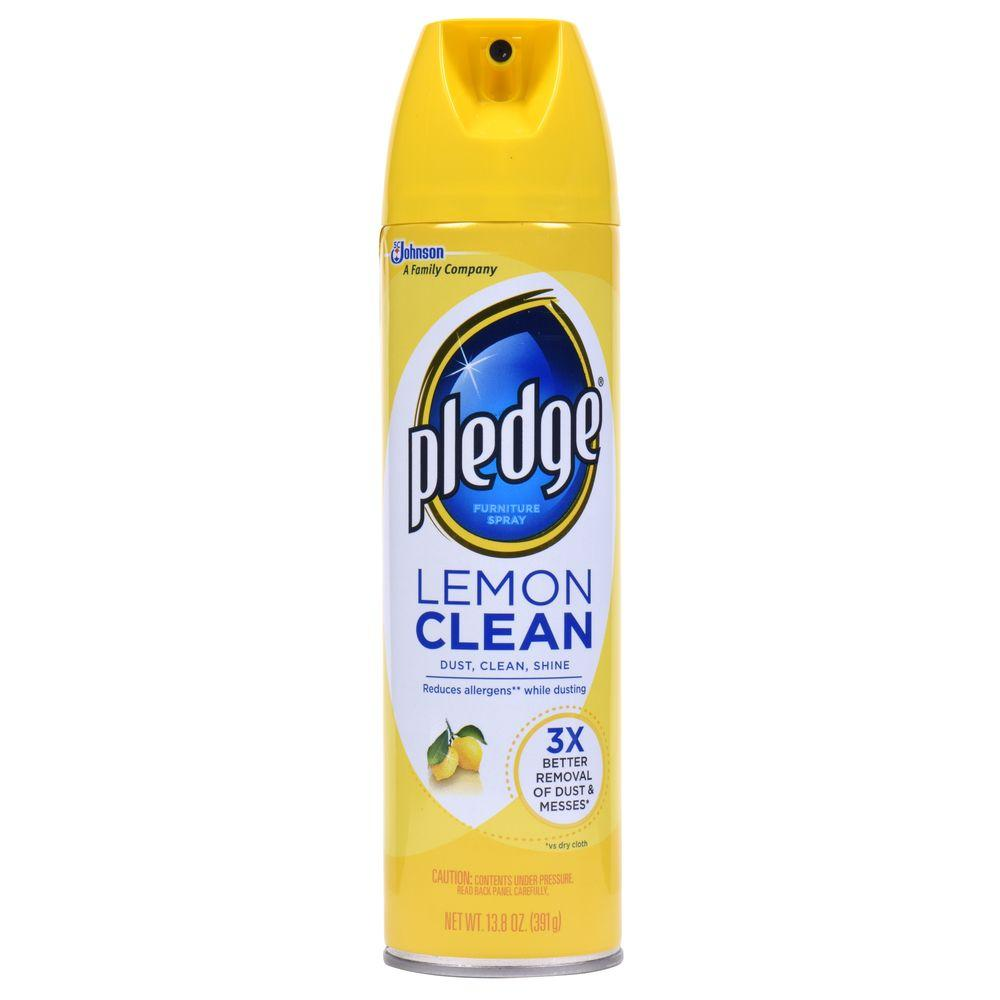 Pledge 13 8 Oz Lemon Clean Furniture Cleaner 623913 The Home Depot