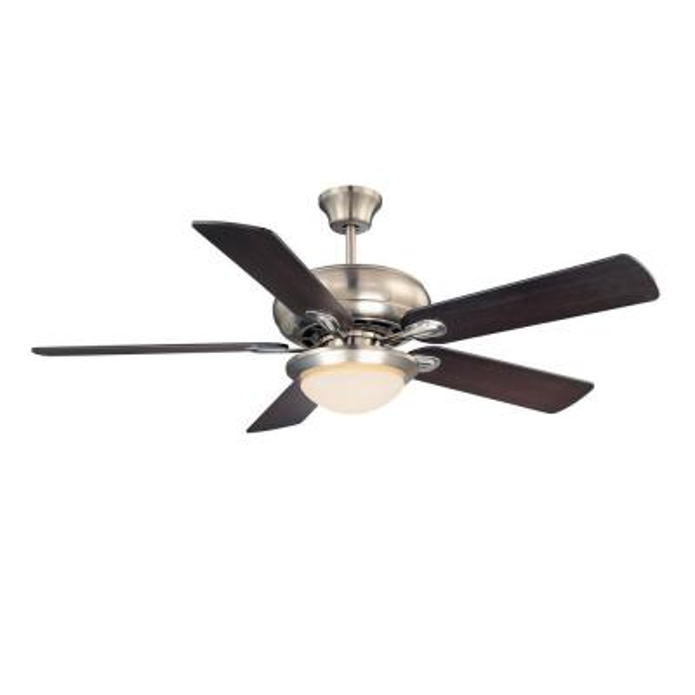 52 in. Satin Nickel Ceiling Fan with Light