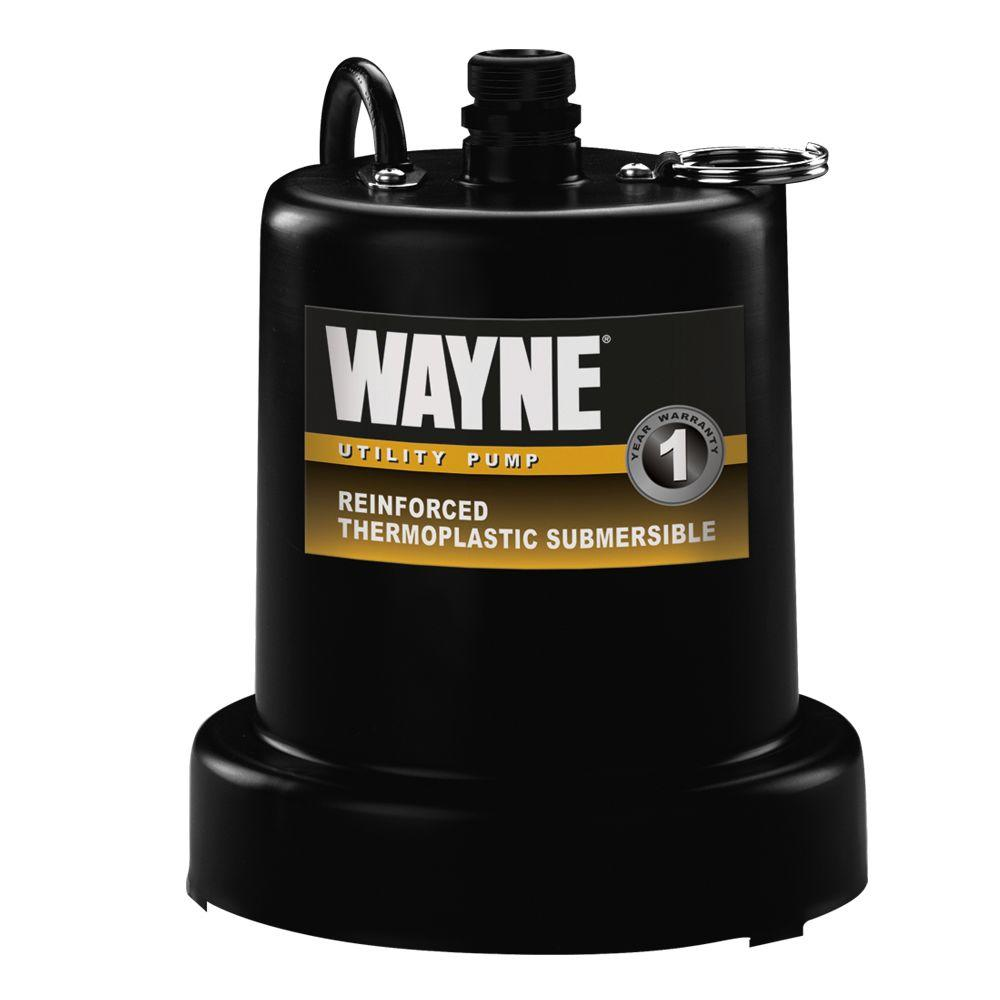 Wayne 1 6 Hp Submersible Utility Pump Tsc160 The Home Depot Two Way Switch For Water