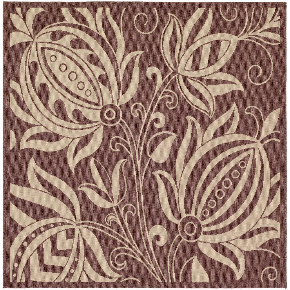 Courtyard Chocolate/Natural 6 ft. 7 in. x 6 ft. 7 in.