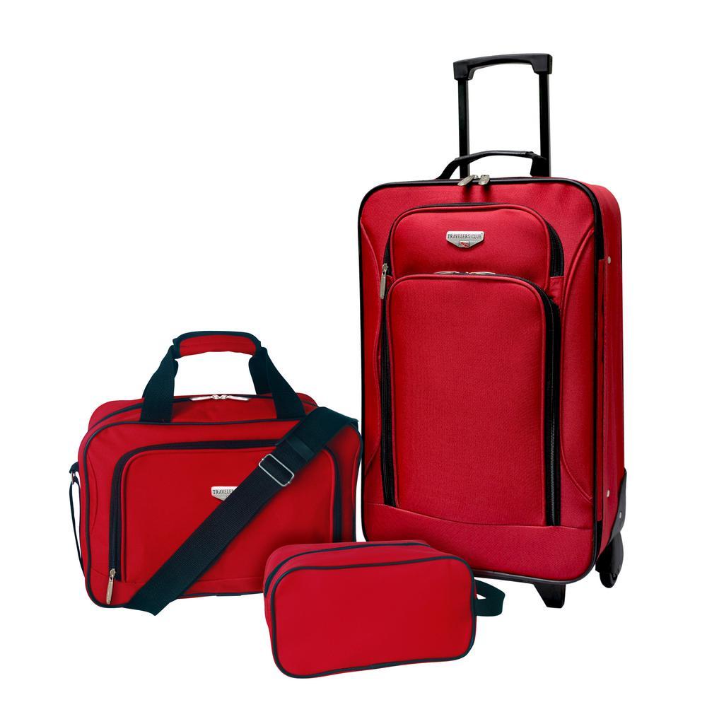3-Piece Eva-Styled Value Carry-On Luggage Set