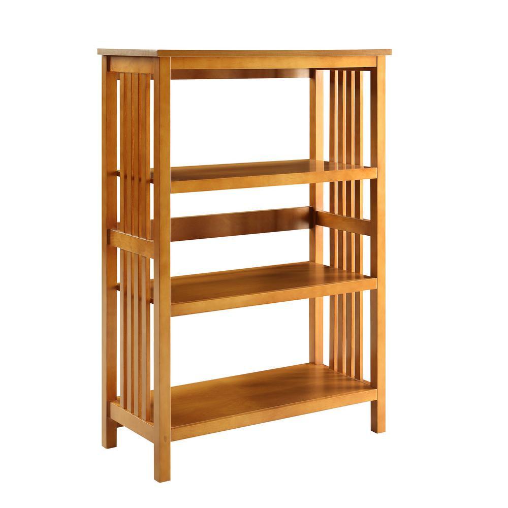 Mission Oak 3-shelf Bookcase