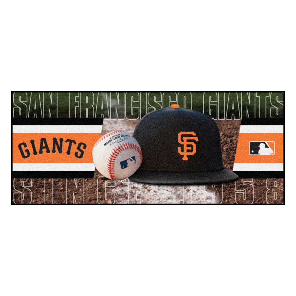 San Francisco Giants 3 ft. x 6 ft. Baseball Runner Rug