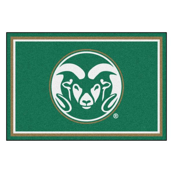 NCAA - Colorado State University Green 8 ft. x 5 ft. Indoor Area Rug