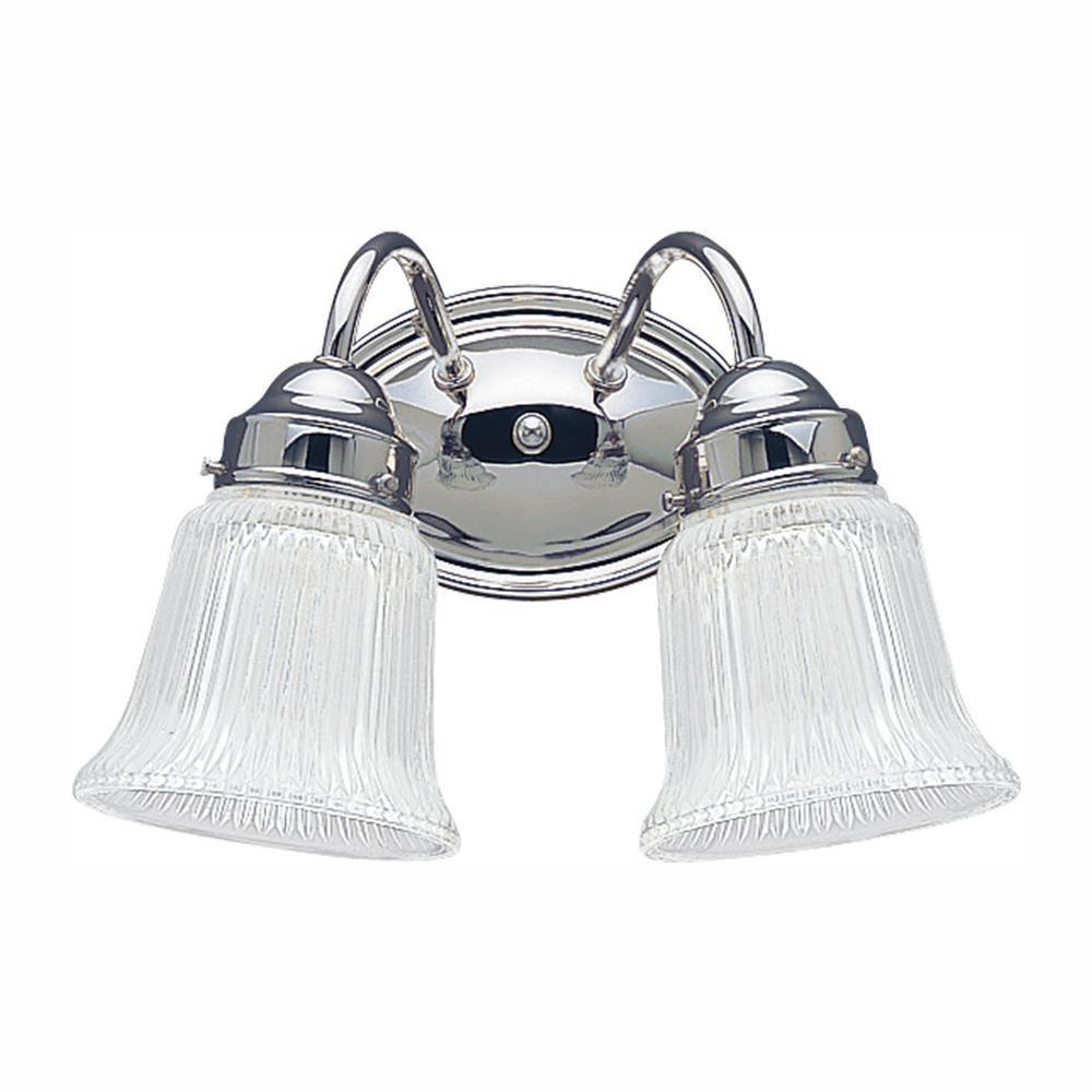 Brookchester 2-Light Chrome Bath Light with LED Bulbs