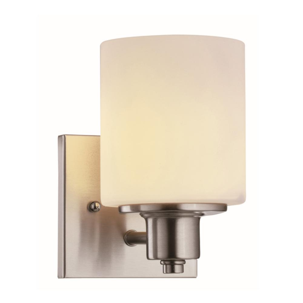 Dane 1-Light Satin Nickel Wall Sconce