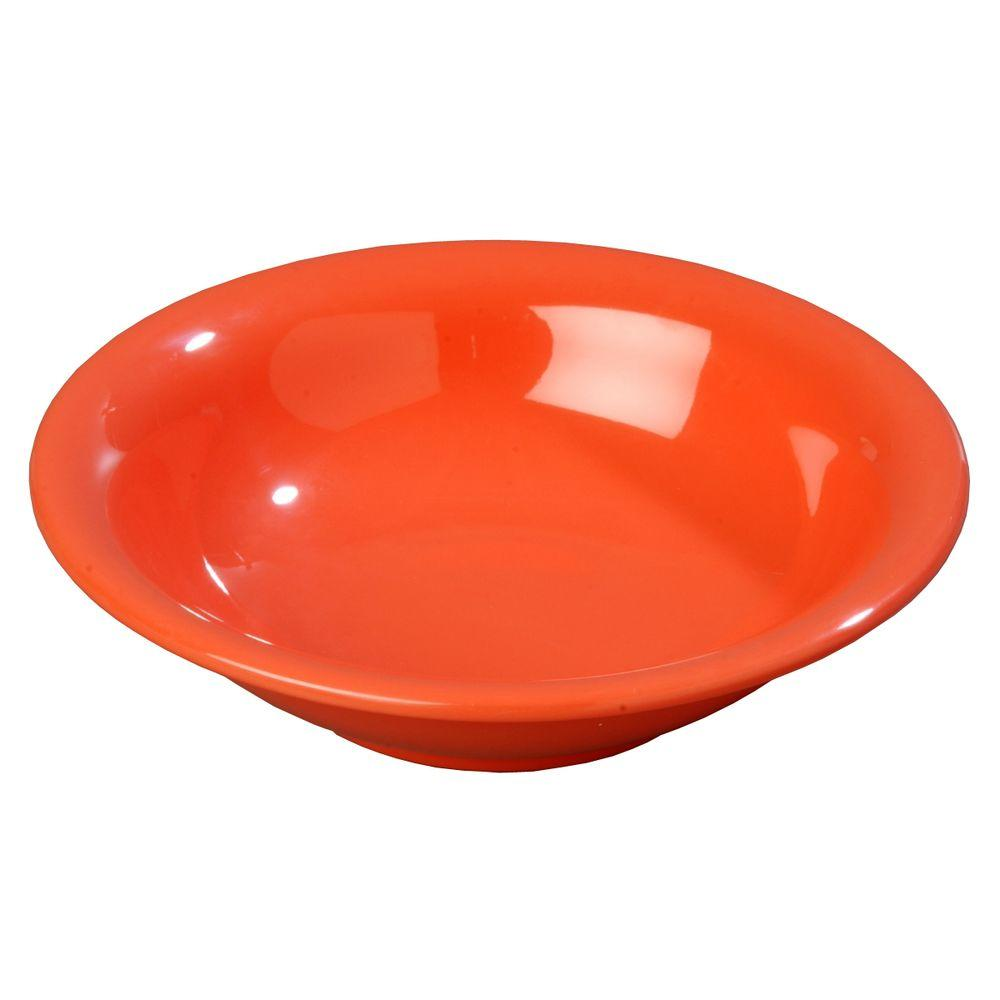 14.7 oz., 7.5 in. Diameter Melamine Rimmed Bowl in Sunset Orange