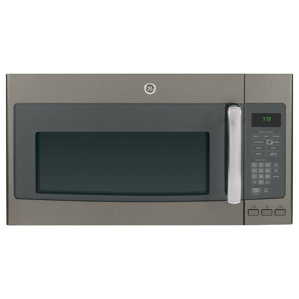 GE 1.9 cu. ft. Over the Range Microwave in Slate with Sensor Cooking