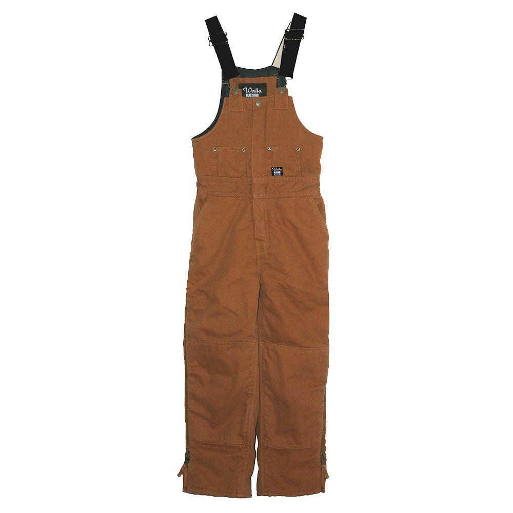 Walls Heavyweight Duck Insulated Extra Large Regular Bib Overall in Brown