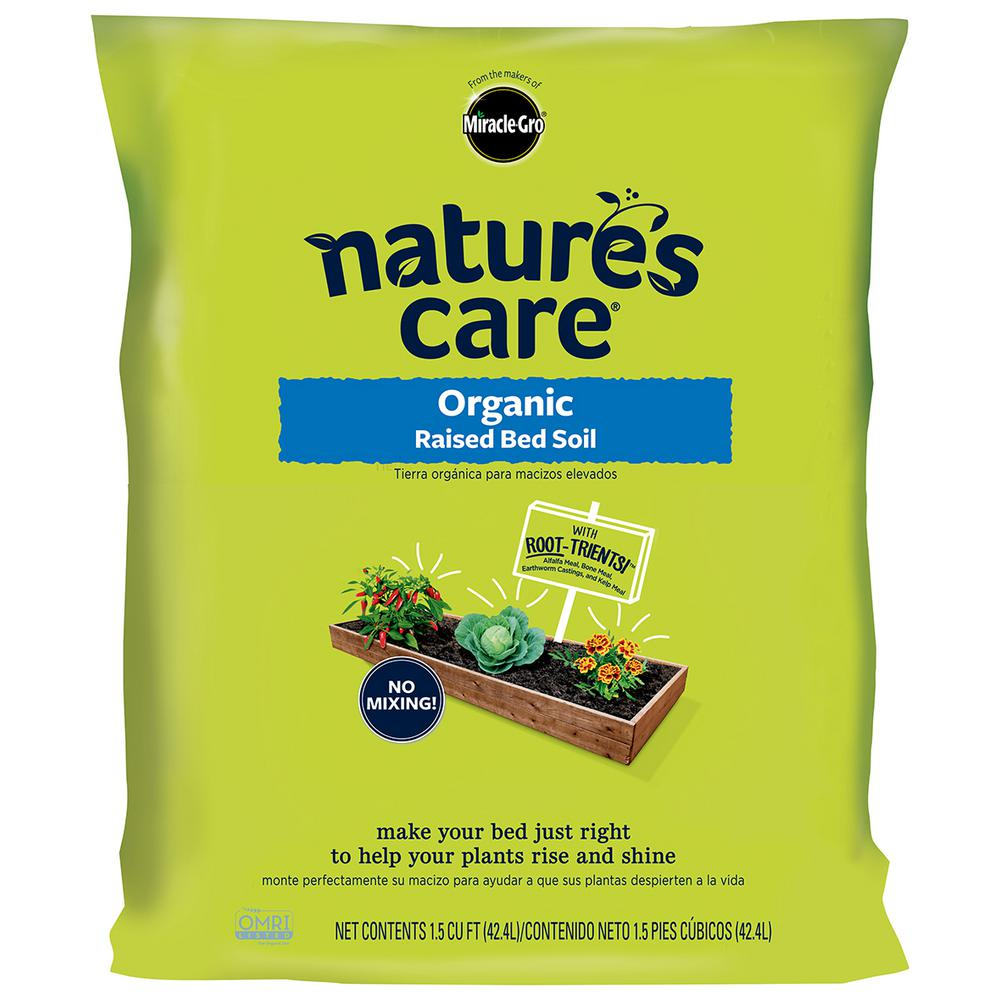 Miracle gro nature 39 s care 1 5 cu ft raised bed soil - Home depot miracle gro garden soil ...