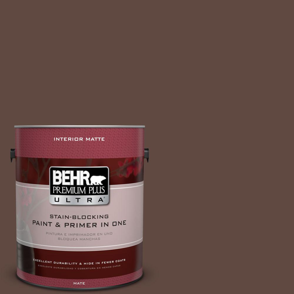 1 gal. #N150-7 Chocolate Therapy Matte Interior Paint