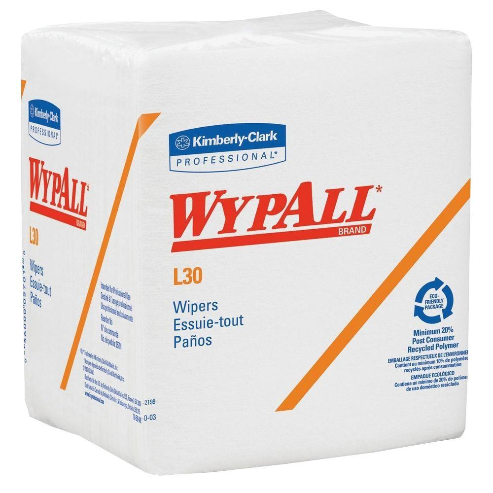 WYPALL L30 White Quarterfold Wipers (90-Count)