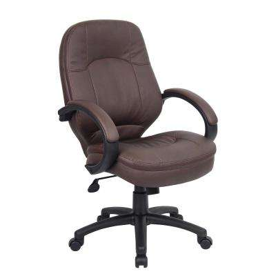 Brown Leather Plus Executive Chair