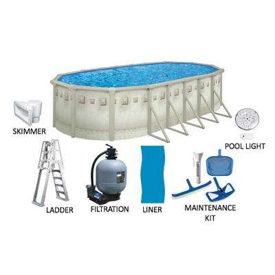 Palisades 12 ft. x 24 ft. Oval 52 in. Deep Hard Sided Above Ground Pool Package