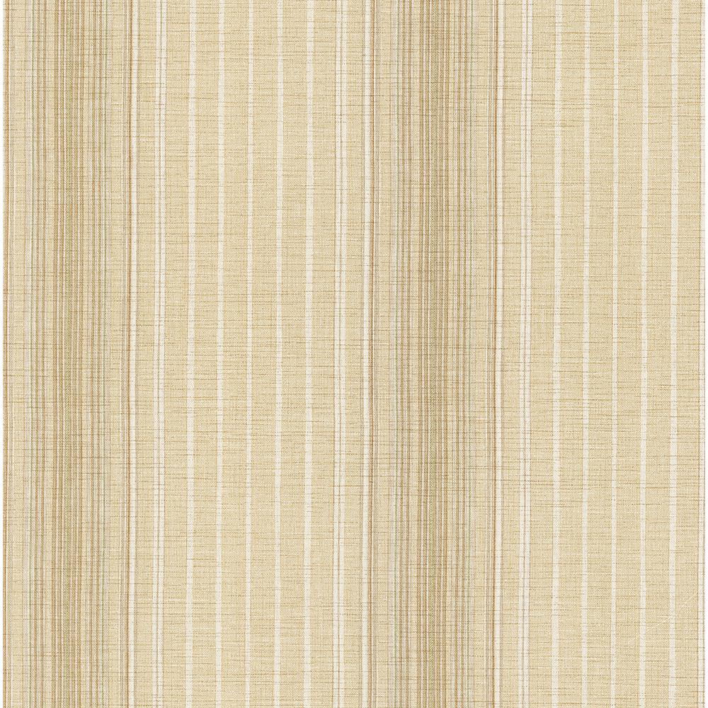 8 in. x 10 in. Natuche Beige Linen Stripe Wallpaper Sample