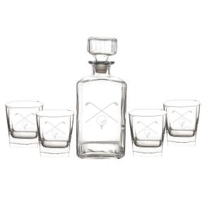 Click here to buy  Golf Decanter Set (Set of 5).