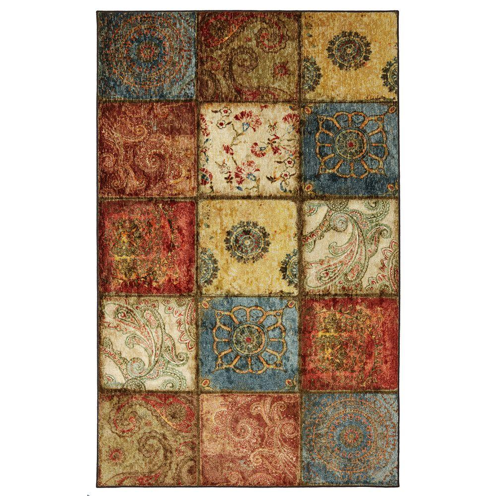 Mohawk Home Artifact Panel Multi 6 Ft X 9 Ft Area Rug